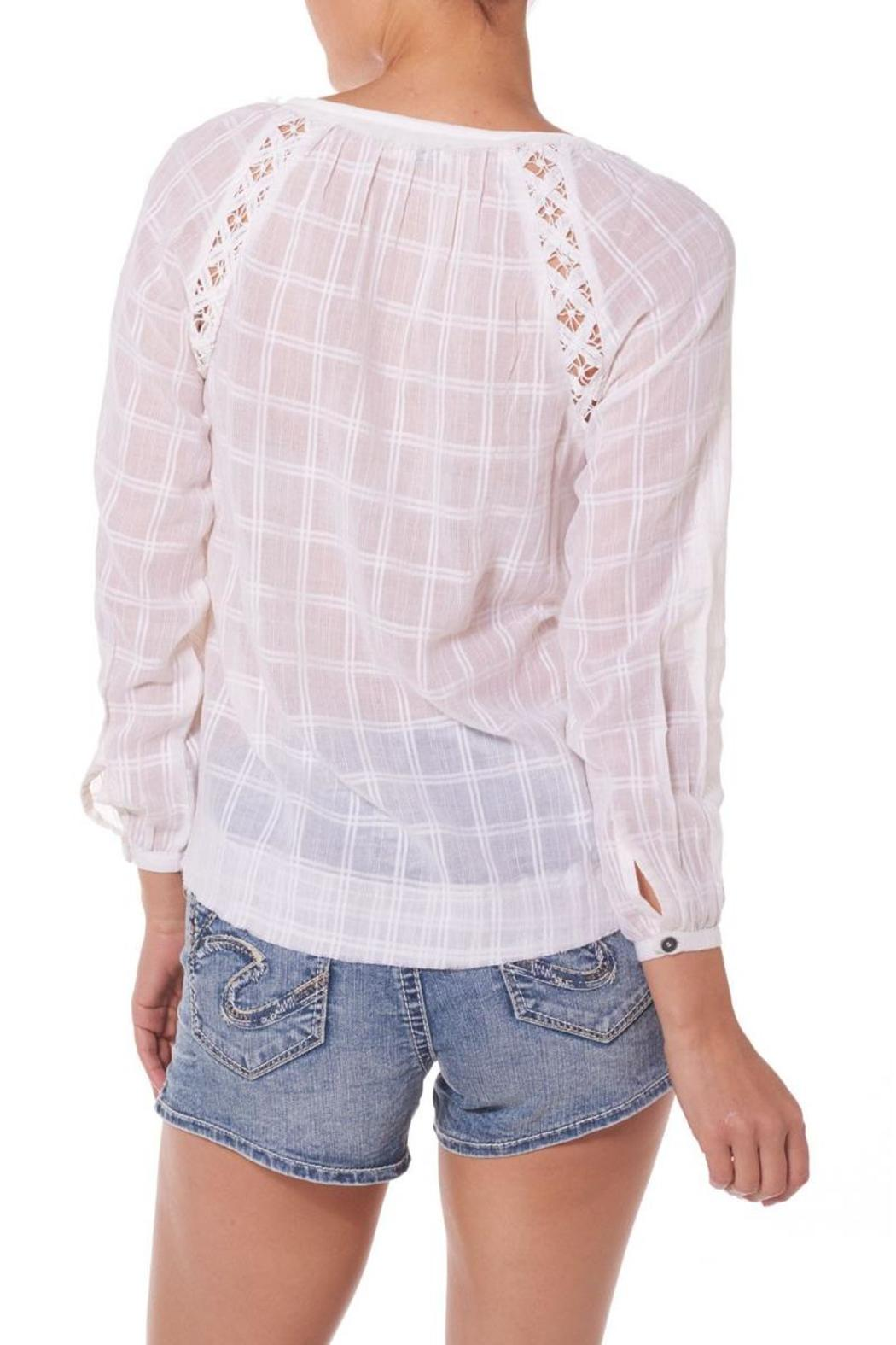 Silver Jeans Co. Embroidered Peasant Blouse - Front Full Image