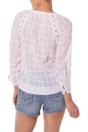 Silver Jeans Co. Embroidered Peasant Blouse - Front full body