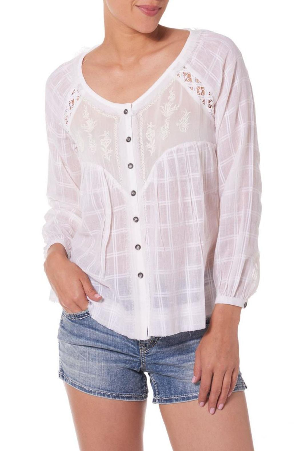 Silver Jeans Co. Embroidered Peasant Blouse - Main Image