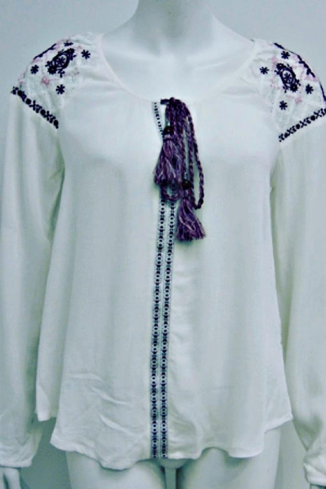Silver Jeans Co. Embroidered Peasant Top - Main Image