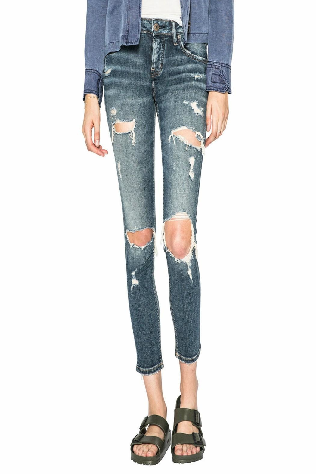 Silver Jeans Co. Girlfriend Mid-Rise Jeans - Main Image