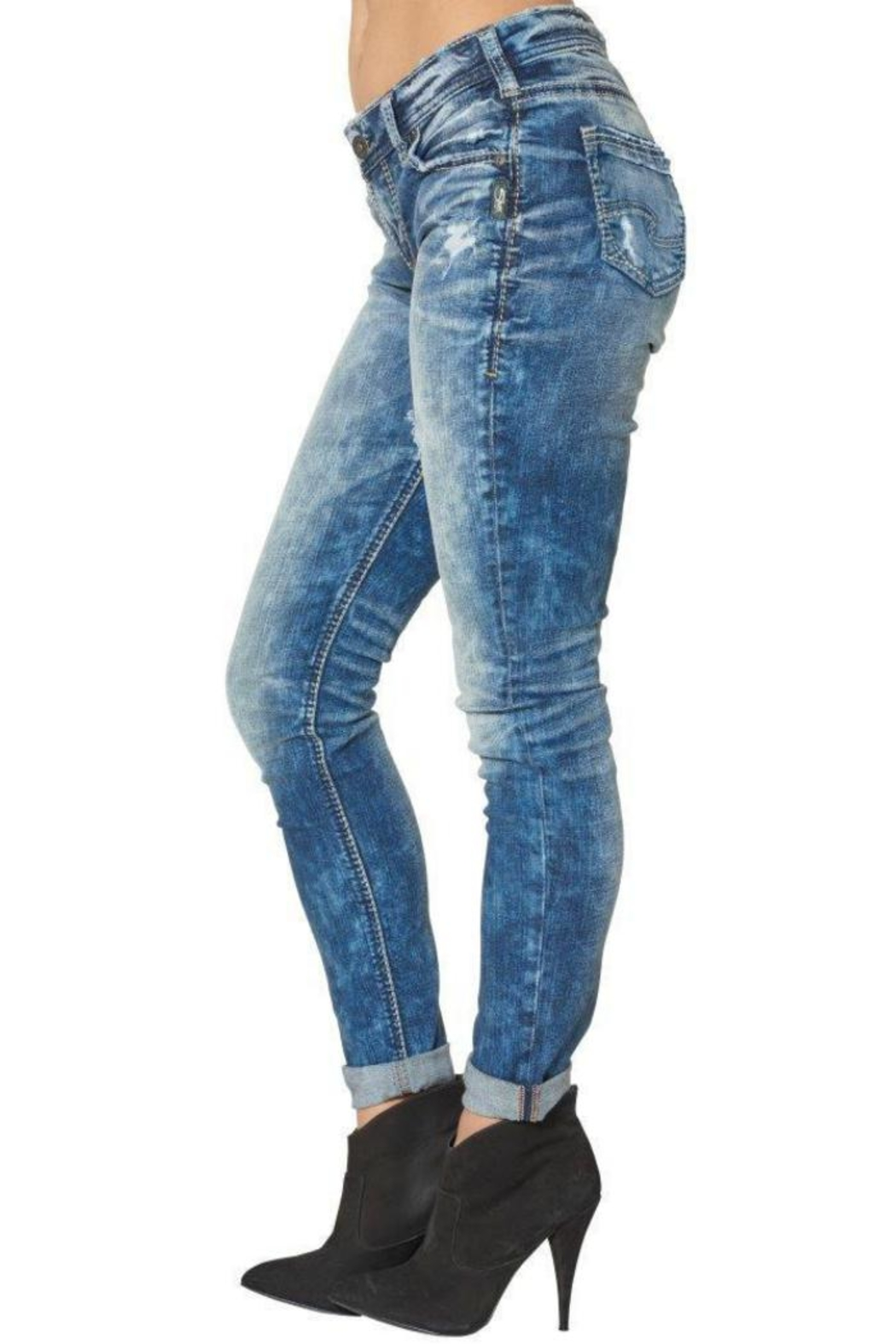 Silver Jeans Co. Girlfriend Super-Stretch Skinny - Side Cropped Image