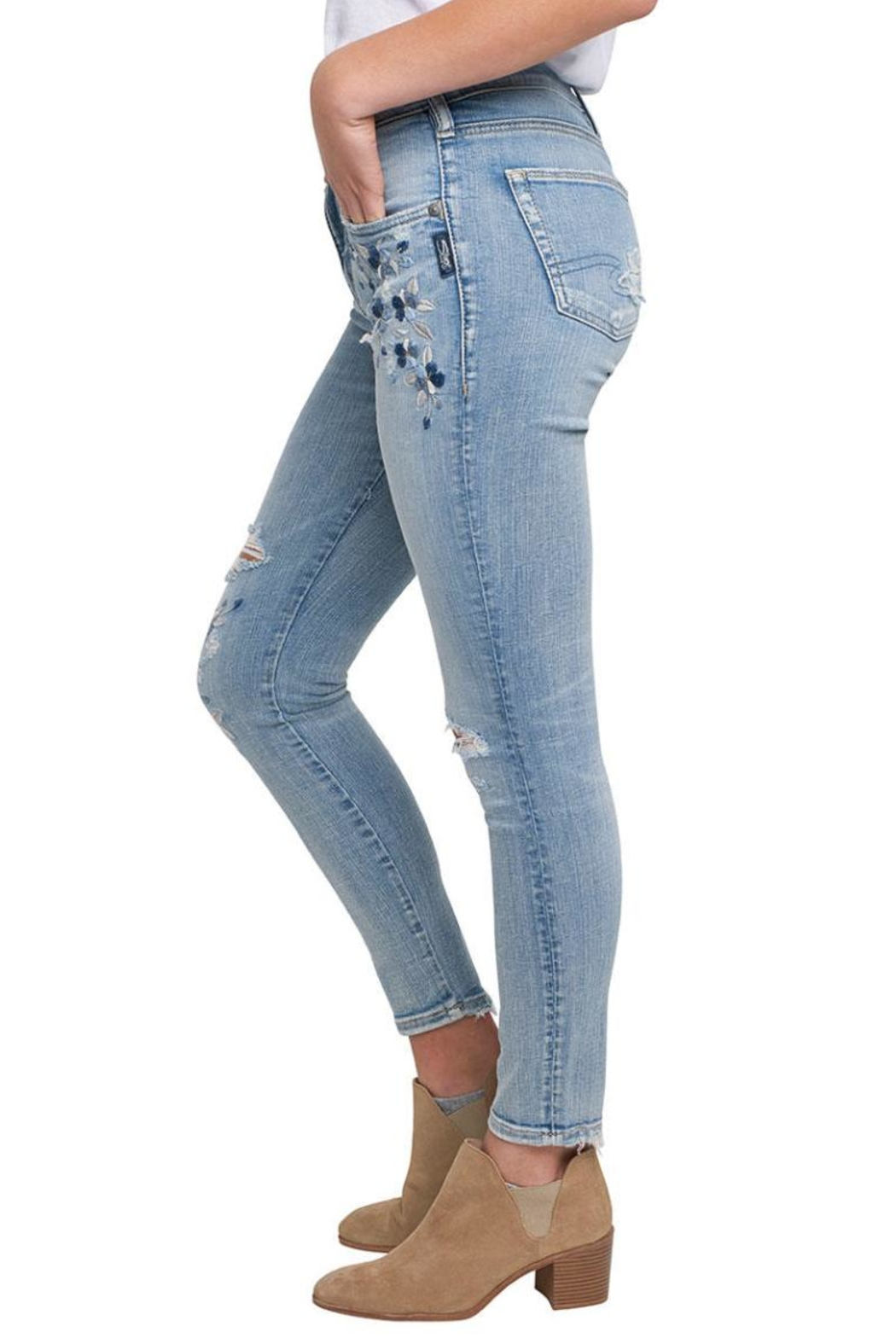 Silver Jeans Co. Izzy Ankle Skinny - Side Cropped Image