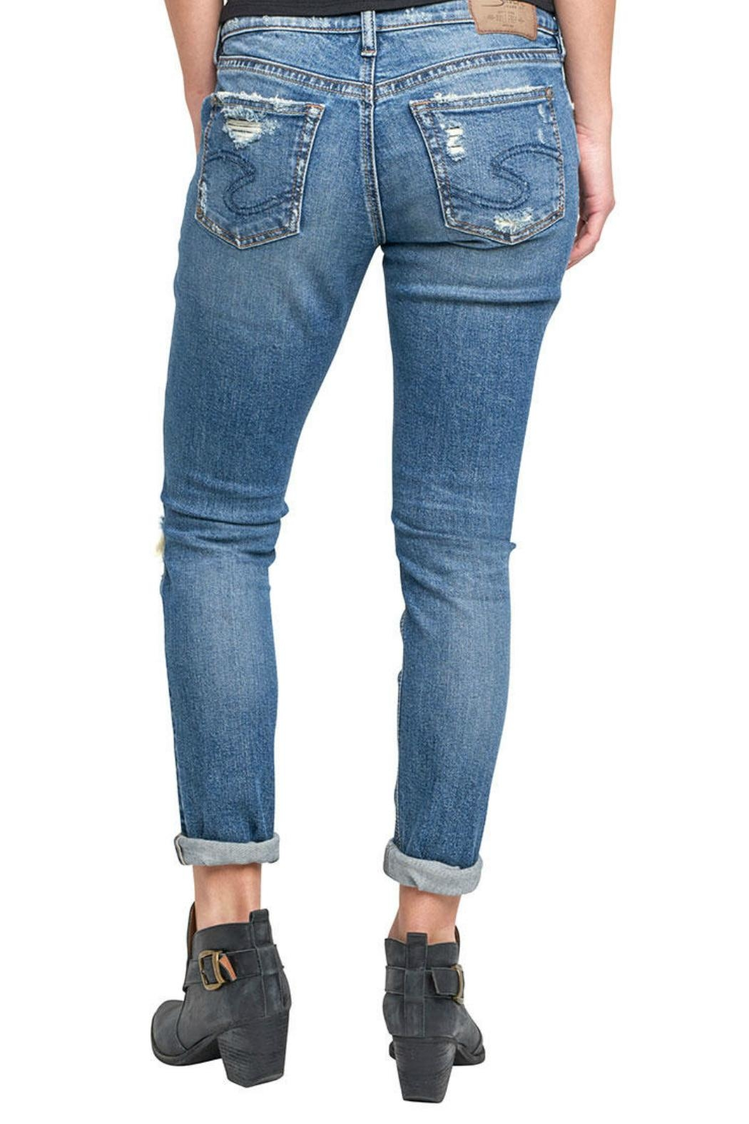 Silver Jeans Co. Kenni Girlfriend Jeans - Front Full Image