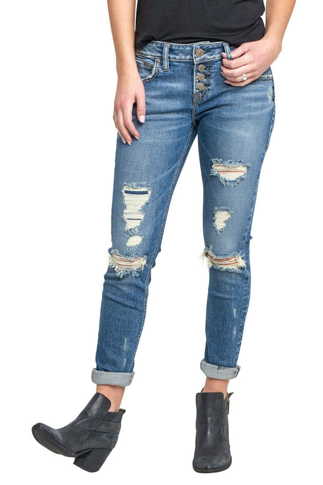 Silver Jeans Co. Kenni Girlfriend Jeans - Main Image