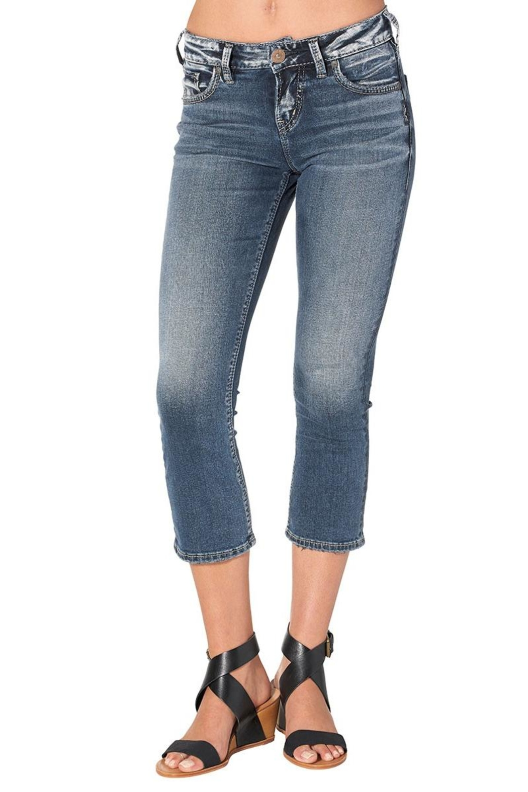 Silver Jeans Co. Curvy Kick Crop - Front Full Image