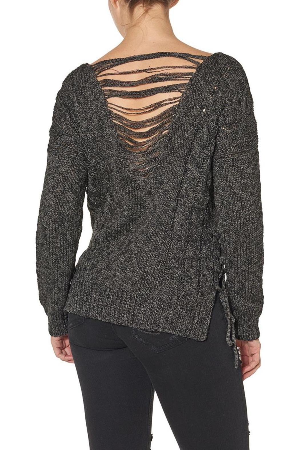 Silver Jeans Co. Lace Up Back Detailed Sweater - Front Full Image