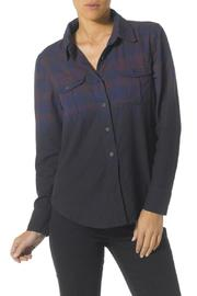 Silver Jeans Co. Ombre Plaid-Flannel Shirt - Front full body