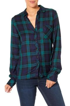 Silver Jeans Co. Pauline Navy Flannel Top - Product List Image