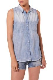 Silver Jeans Co. Plaid-Back Chambray Top - Front cropped
