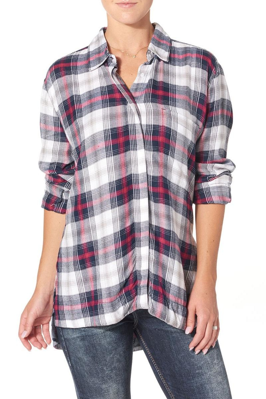 Silver Jeans Co. Side Slit Boyfriend Shirt - Main Image