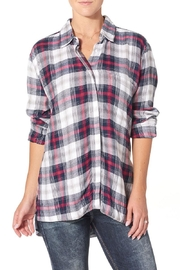Silver Jeans Co. Side Slit Boyfriend Shirt - Front cropped
