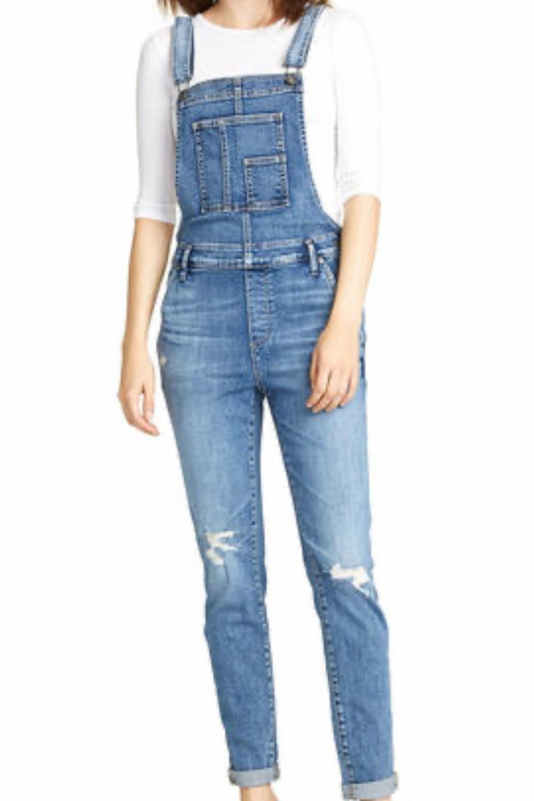 Silver Jeans Co. Skinny Denim Overall - Main Image