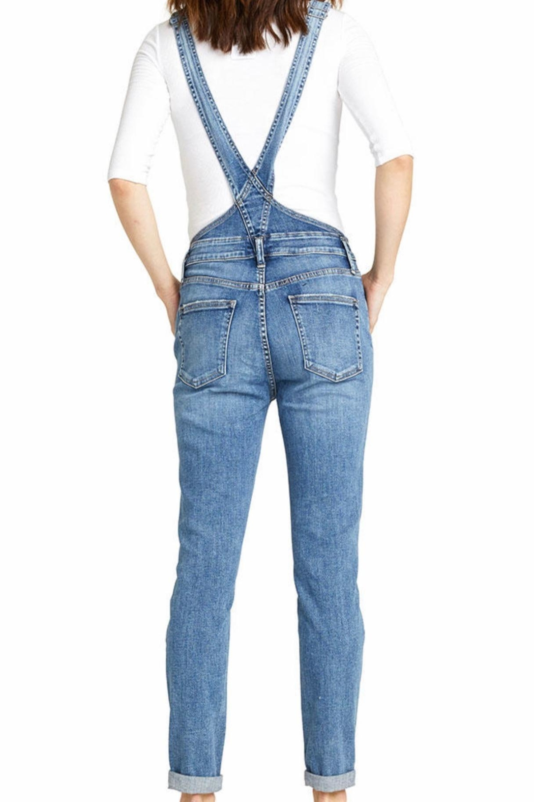 Silver Jeans Co. Skinny Denim Overall - Side Cropped Image