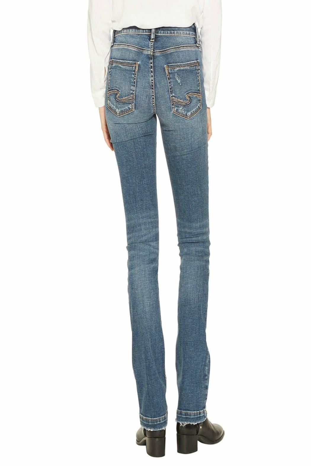 Silver Jeans Co. Slim-Boot Elyse Jeans - Front Full Image