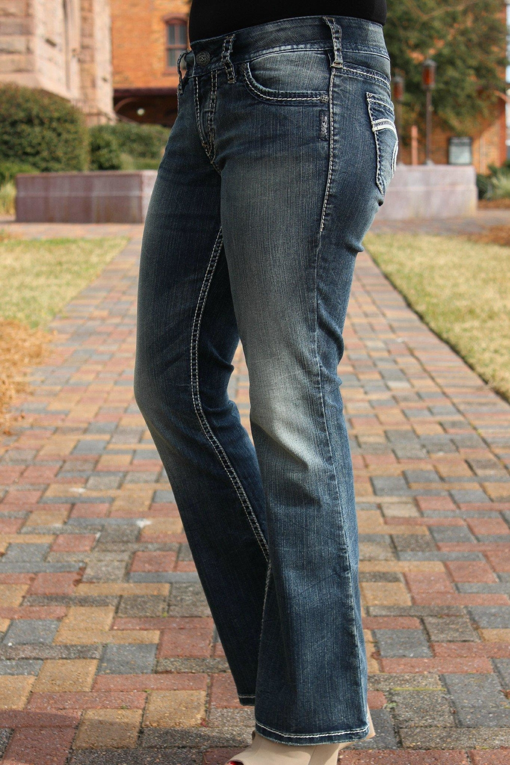 Silver Jeans Co. Suki Bootcut Jeans - Back Cropped Image
