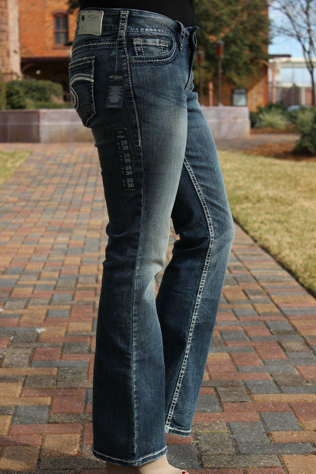 Silver Jeans Co. Suki Bootcut Jeans - Front Full Image