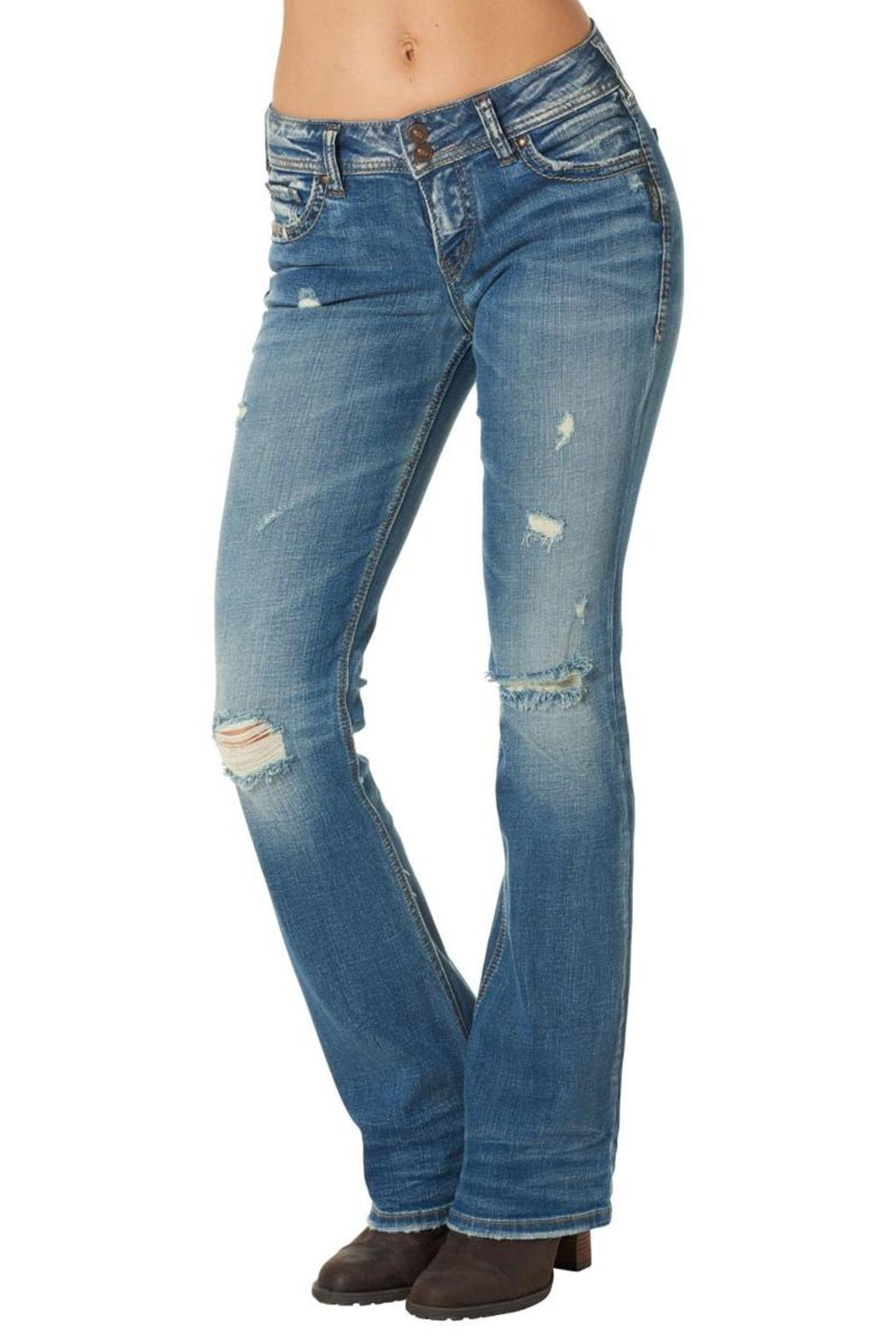 Silver Jeans Co. Suki Distressed-Bootcut - Main Image