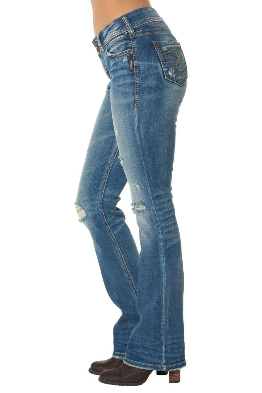 Silver Jeans Co. Suki Distressed Bootcut - Side Cropped Image