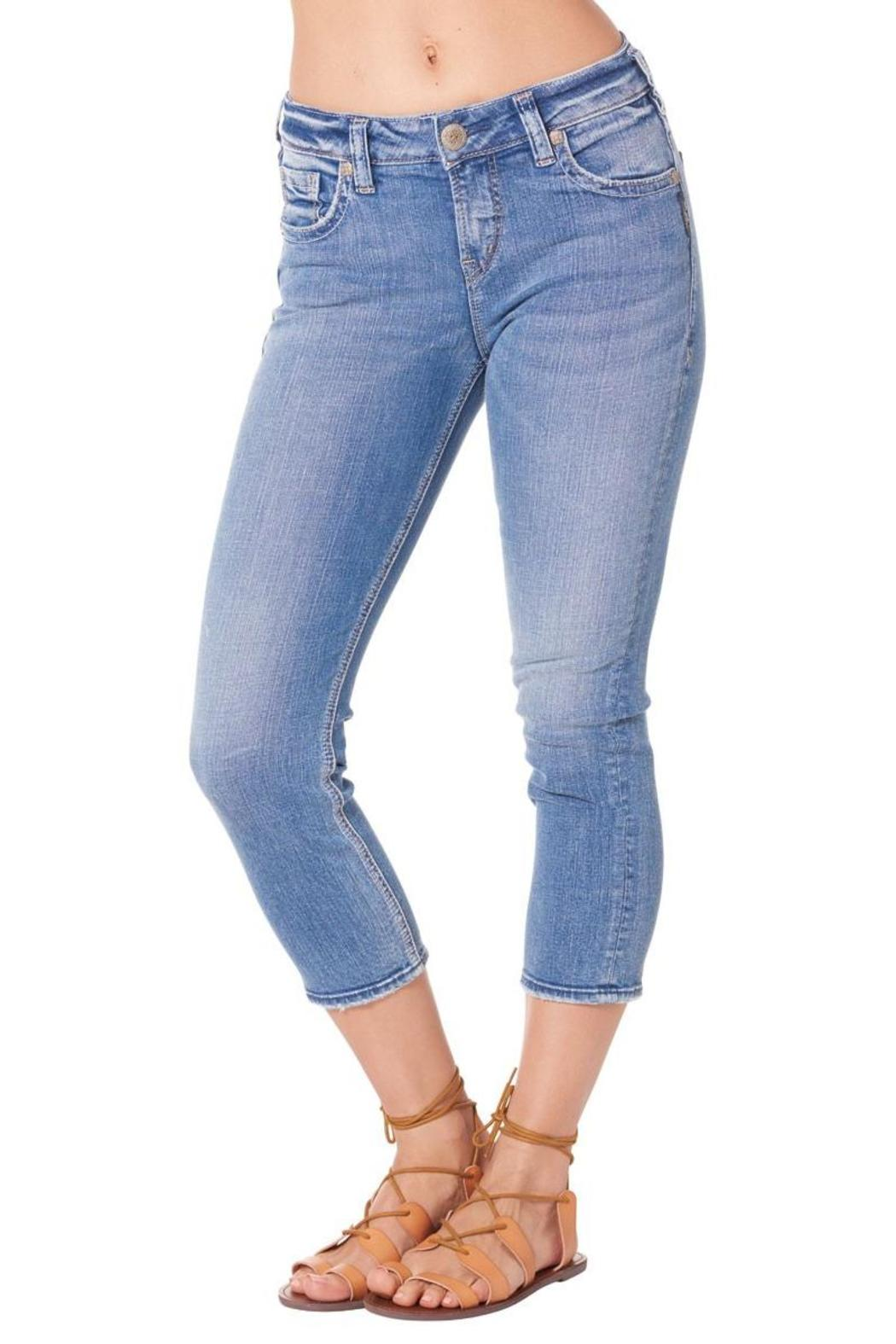 Silver Jeans Co. Suki High Capri Jeans - Front Cropped Image