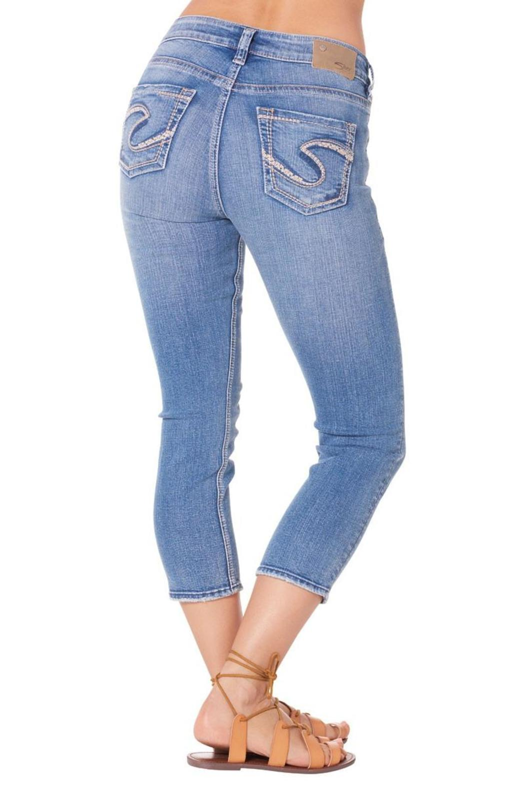 Silver Jeans Co. Suki High Capri Jeans - Side Cropped Image
