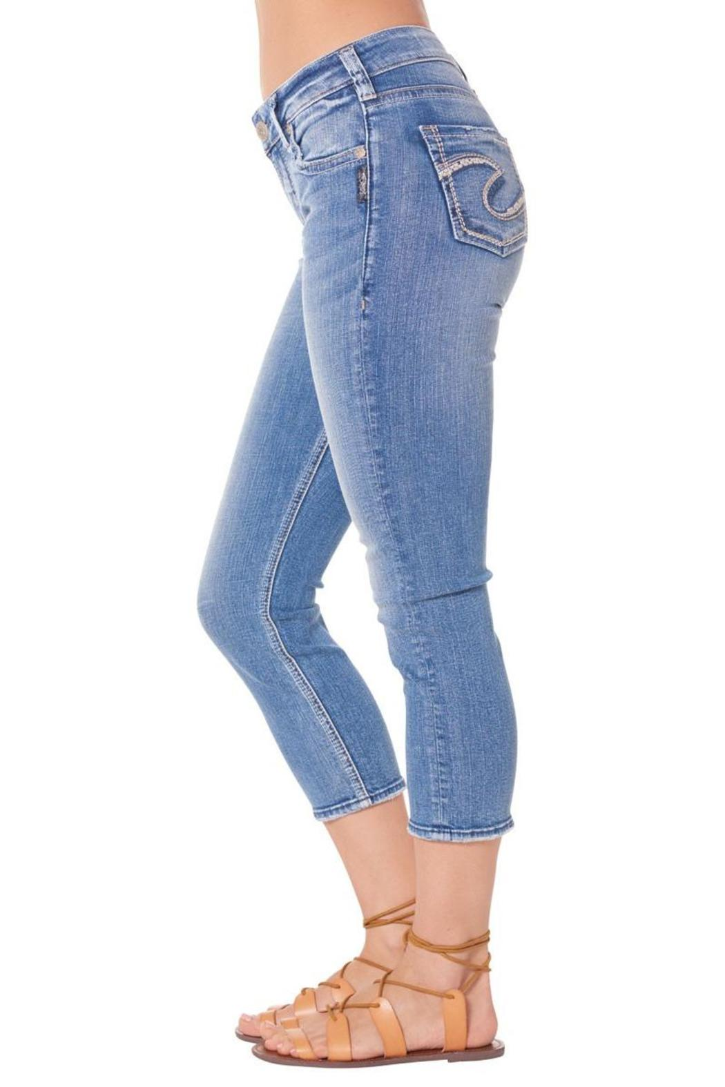 Silver Jeans Co. Suki High Capri Jeans - Front Full Image