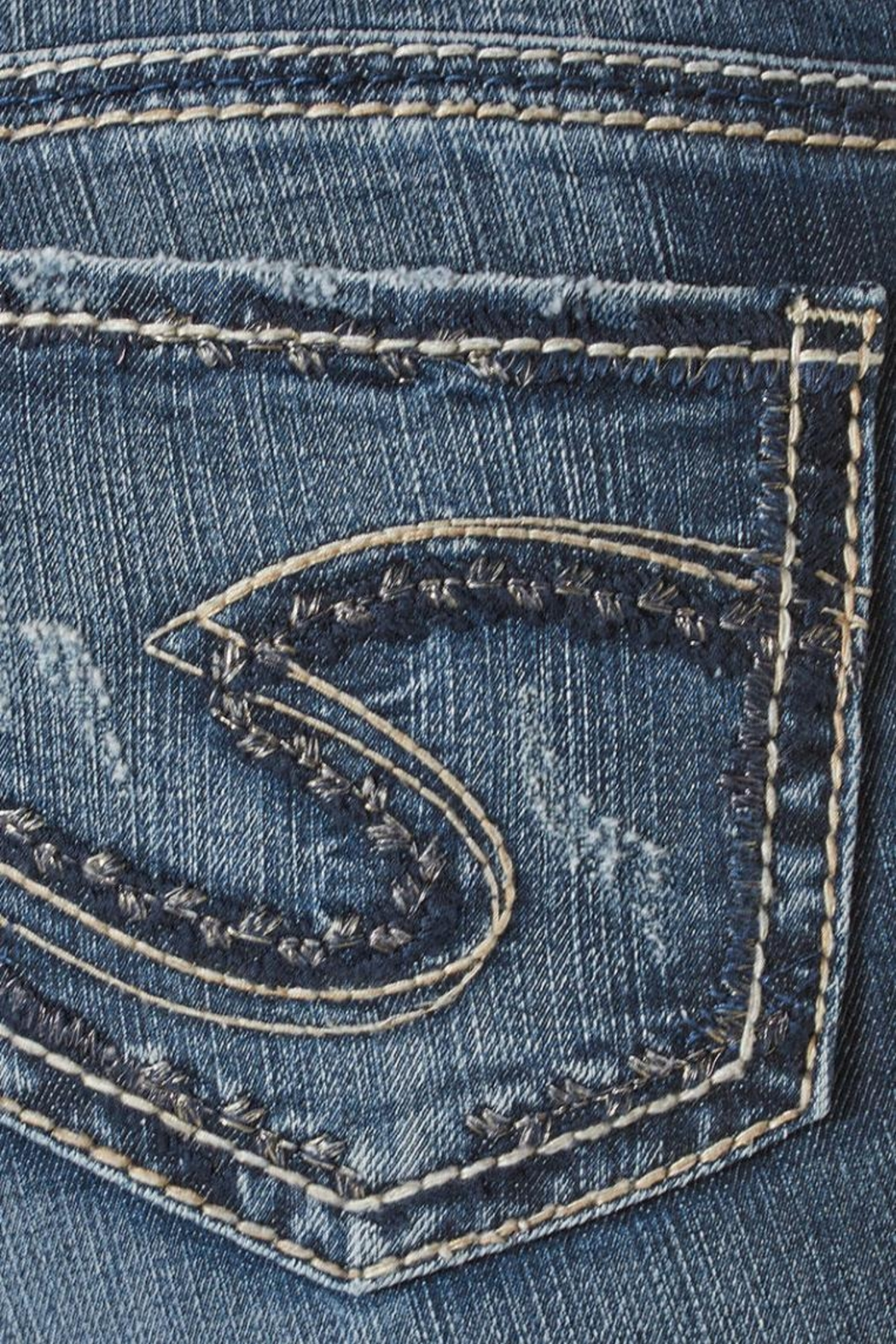 Silver Jeans Co. Suki Mid Straight - Back Cropped Image