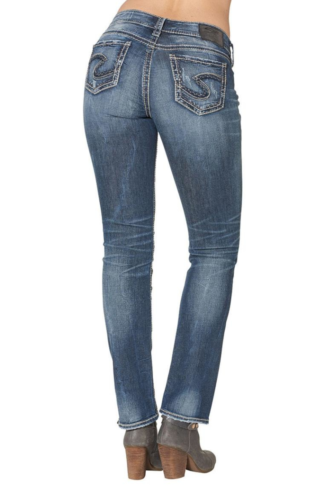 Silver Jeans Co. Suki Mid Straight - Front Full Image