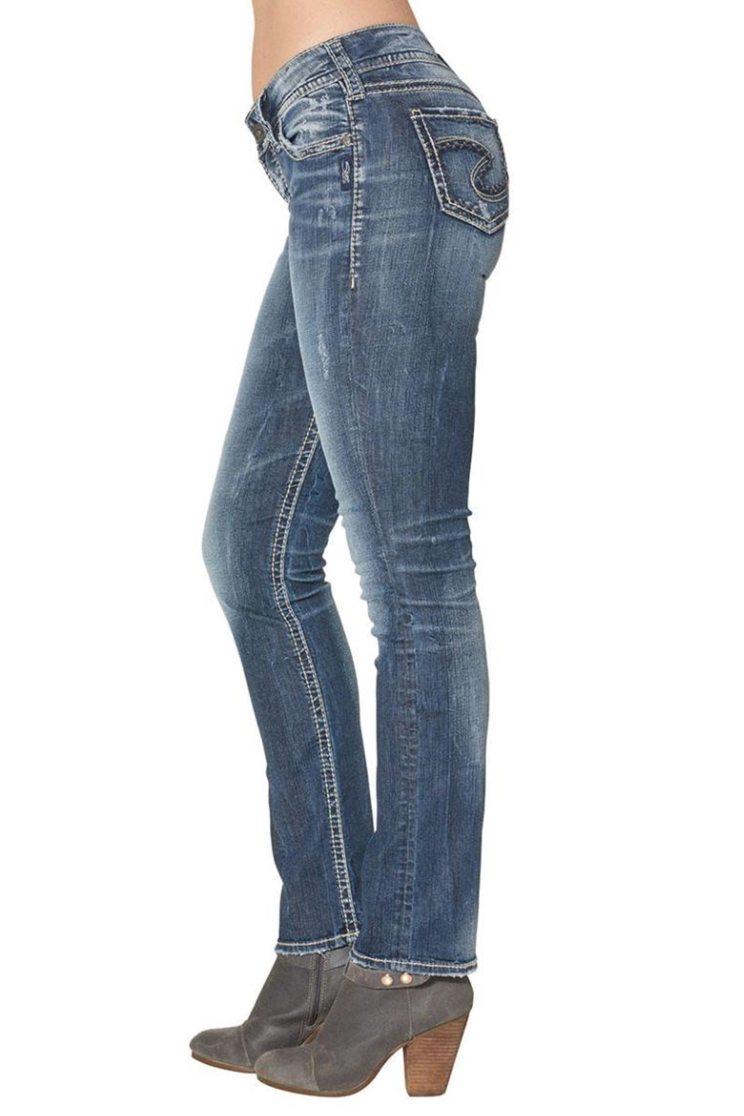 Silver Jeans Co. Suki Mid Straight - Side Cropped Image