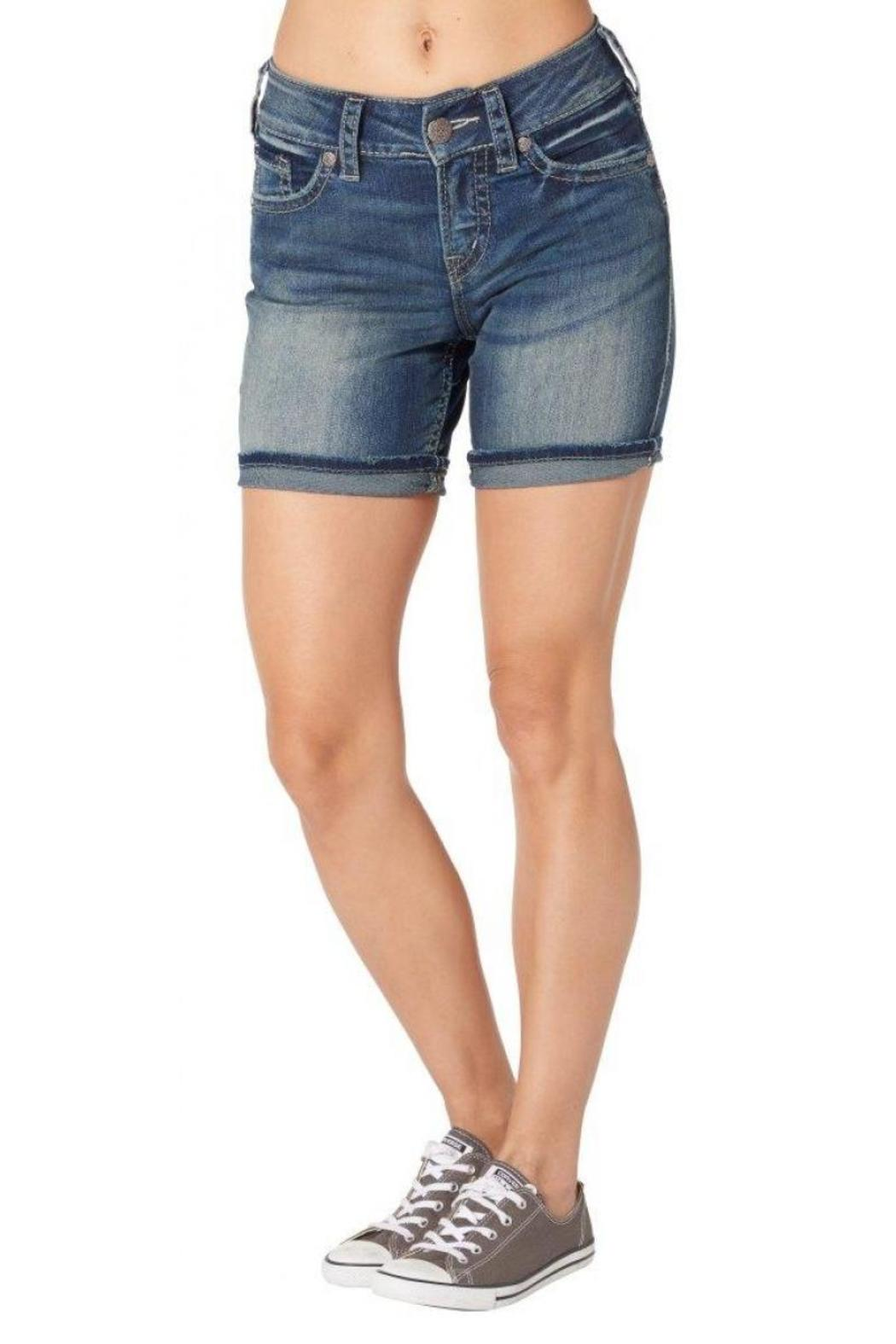 Silver Jeans Co. Suki Mid-Thigh Shorts - Front Full Image