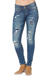 Silver Jeans Co. Suki Skinny Busted-Floral - Product Mini Image