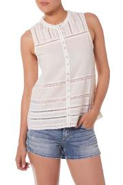 Silver Jeans Co. Crochet Lace Tank Ivory - Product Mini Image