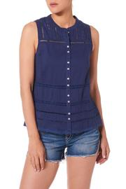Silver Jeans Co. Crochet Lace Tank Navy - Product Mini Image