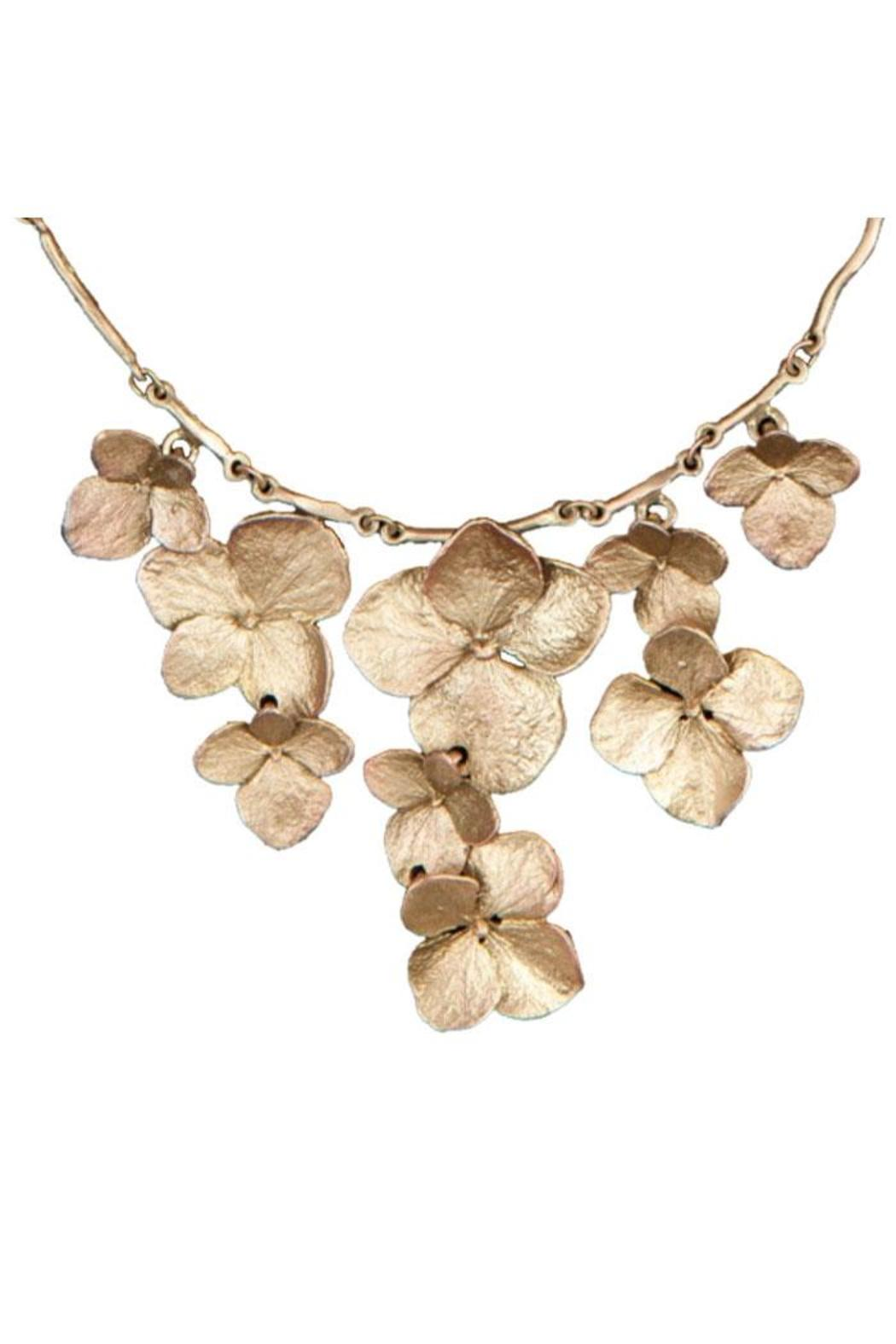 Silver Seasons  Hydrangea Contour Necklace - Front Cropped Image