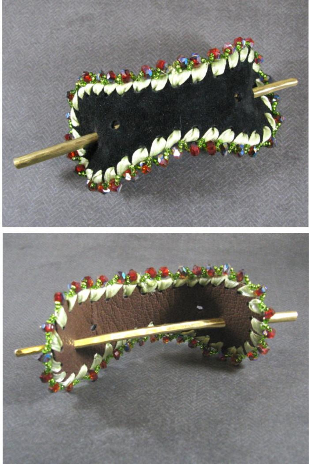 Silver Serpent Studio 2-Sided Hair Slide - Main Image