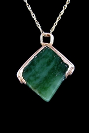 Silver Serpent Studio Canadian Jade Pendant - Front cropped