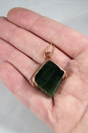Silver Serpent Studio Canadian Jade Pendant - Side cropped