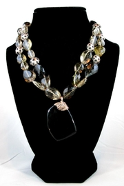 Silver Serpent Studio Smokey Quartz Necklace - Back cropped
