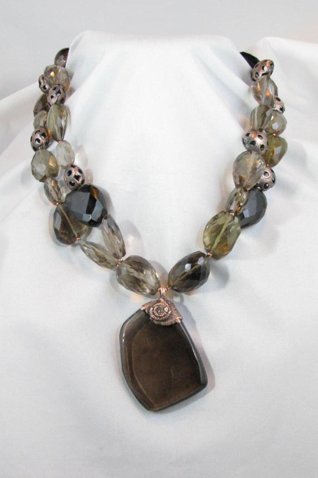 Silver Serpent Studio Smokey Quartz Necklace - Front Cropped Image