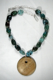 Silver Serpent Studio Turquoise Wood Necklace - Other