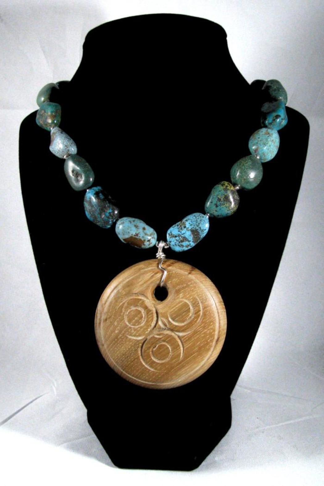 Silver Serpent Studio Turquoise Wood Necklace - Back Cropped Image