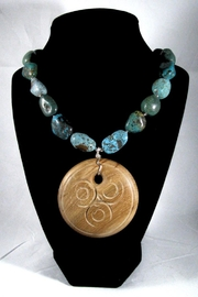 Silver Serpent Studio Turquoise Wood Necklace - Back cropped