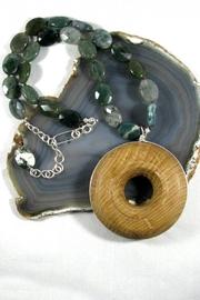Silver Serpent Studio Wood Agate Necklace - Product Mini Image