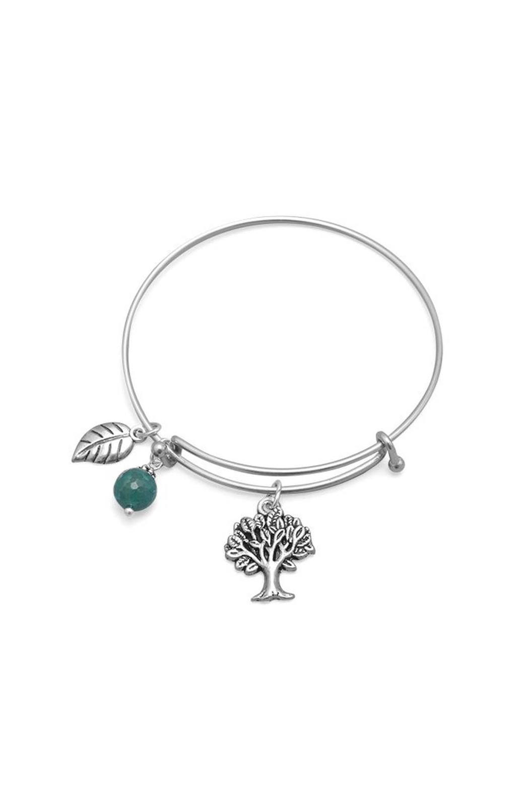 Silver Stars Collection Bracelet Tree Charm - Main Image