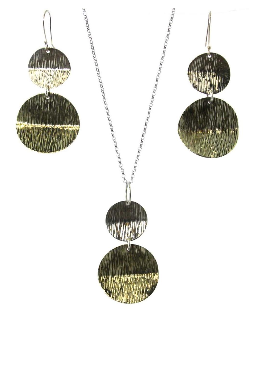 Silver Stars Collection Necklace & Earring Set - Front Full Image