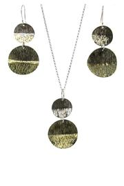 Silver Stars Collection Necklace & Earring Set - Front full body