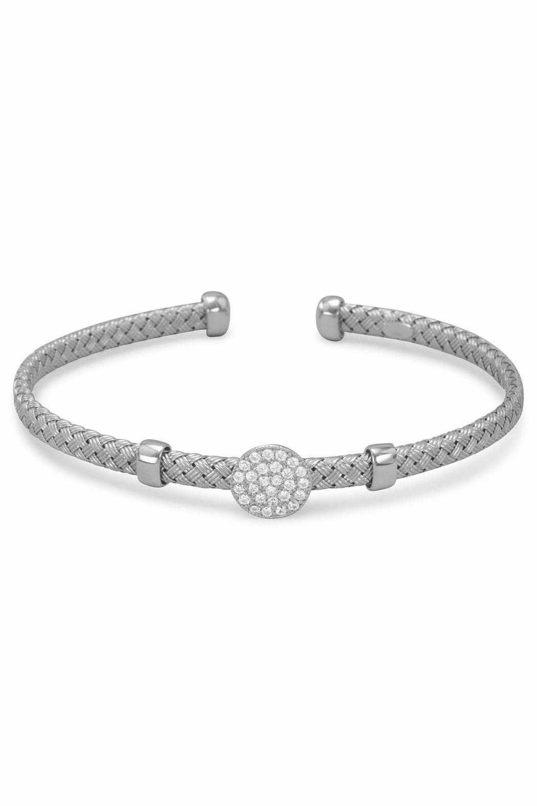 Silver Stars Collection Woven Cuff Bracelet - Main Image