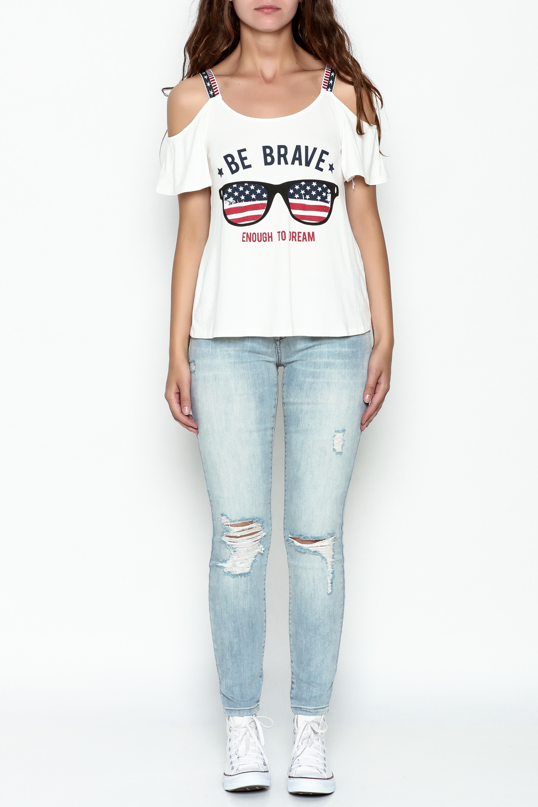 Silvergate Be Brave Tee - Front Full Image
