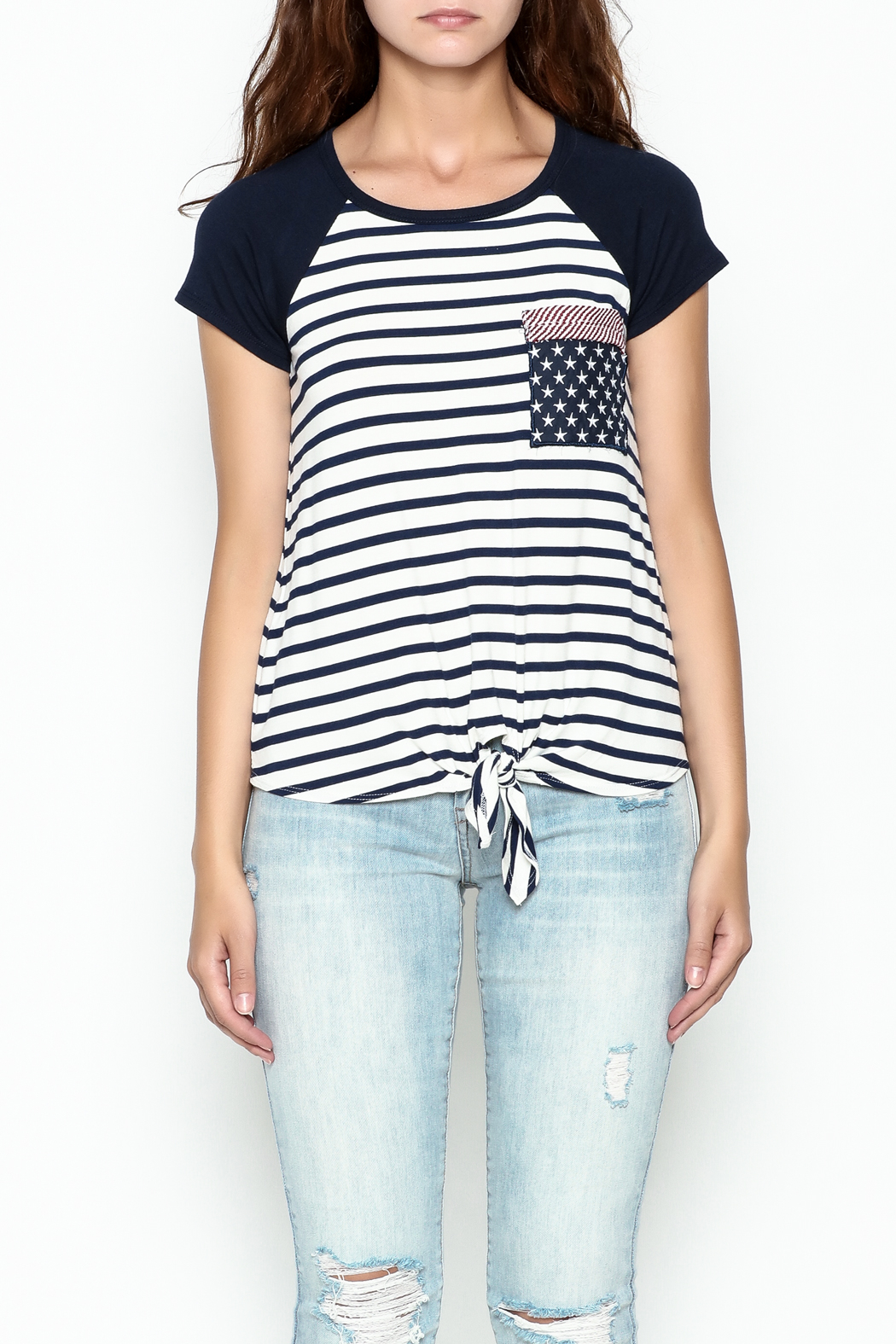 Silvergate Flag Pocket Tee - Front Cropped Image