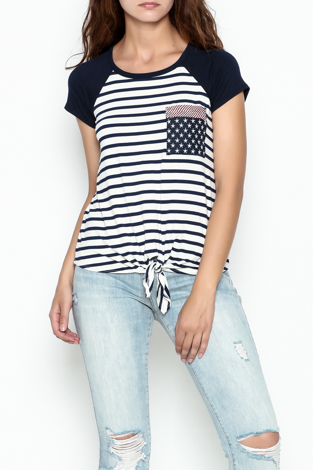 Silvergate Flag Pocket Tee - Side Cropped Image